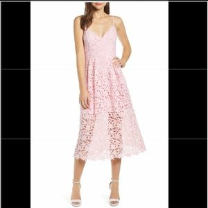 ROSE LACE MIDI DRESS BY ASTR the LABEL